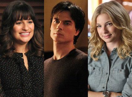 Emily Van Camp, Revenge, Lea Michele, Glee, Ian Somerhalder, The Vampire Diaries