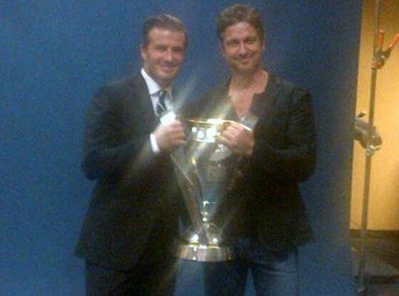David Beckham, Gerard Butler