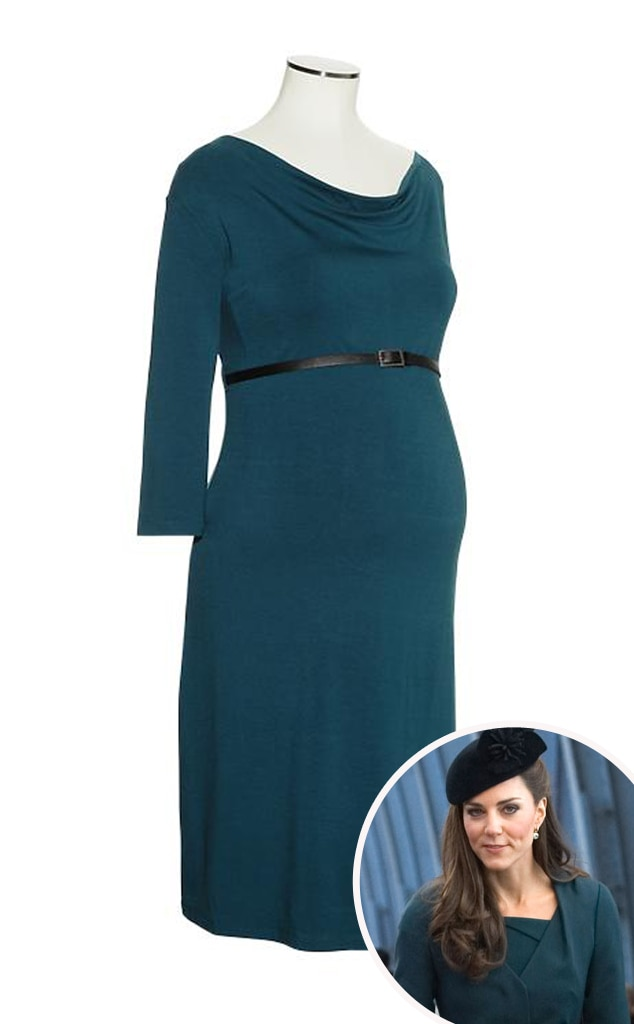 Kate Middleton, Catherine, Duchess of Cambridge, Gap Belted Dress Cowlneck Dress