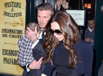 David Beckham, Harper Beckham, Victoria Beckham