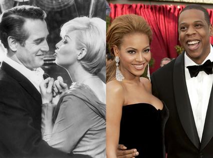 Pau Newman, Joanne Woodward, Beyonce Knowles, Jay-Z