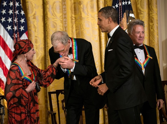 David Letterman, US President Barack Obama, Dustin Hoffman