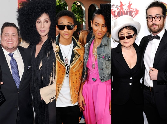 Chaz Bono, Cher, Jaden Smith, Jada Pinkett Smith, Yoko Ono, Sean Lennon
