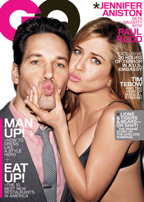 Jennifer Aniston, Paul Rudd, GQ Cover