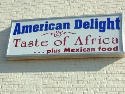 American Delight Sign