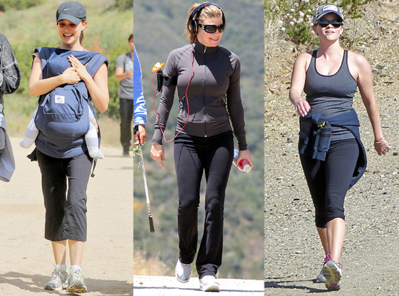 Natalie Portman, Fergie and Reese Witherspoon Hiking