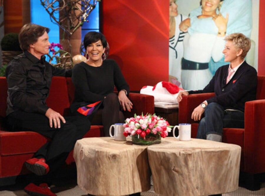 Ellen Degeneres , Bruce Jenner, Kris Jenner