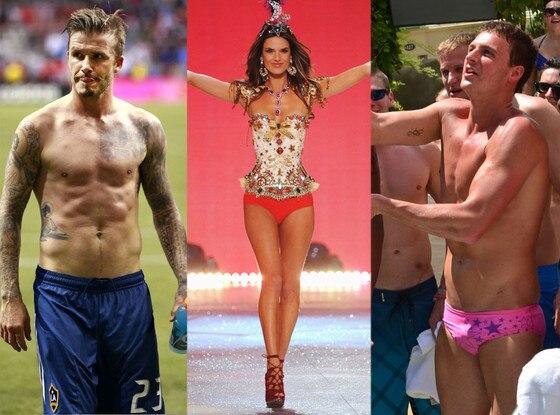 Alessandra Ambrosio, David Beckham, Ryan Lochte