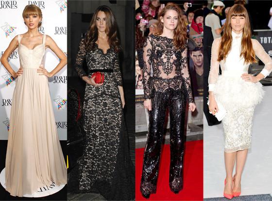 Taylor Swift, Kate Middleton, Kristen Stewart, Jessica Biel