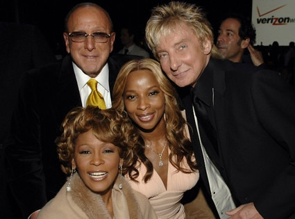 Clive Davis, Whitney Houston, Mary J Blige, Barry Manilow