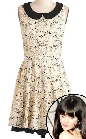 Zooey Deschanel, It's Hoot You Know Dress