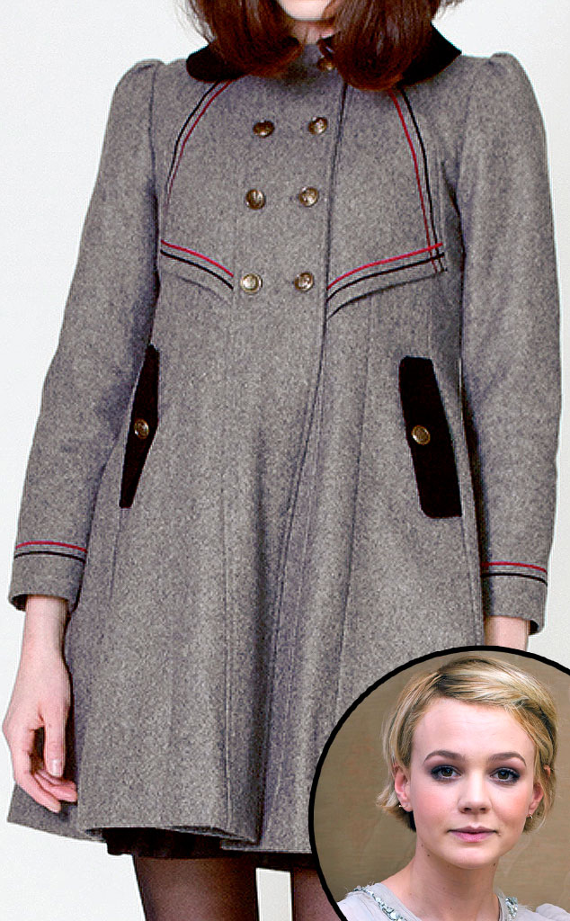 Carey Mulligan, Dear Creatures Charlotte Gray Wool Coat