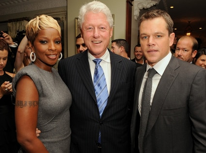 President Day Gallery, Mary J. Blige, Bill Clinton, Matt Damon