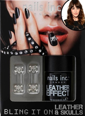 Alexa Chung, Nails Inc. leather nail polish