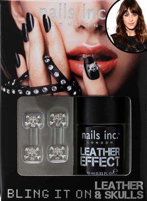Alexa Chung, Nails Inc. leather nail polish
