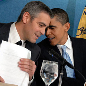President Day Gallery, George Clooney, Barack Obama