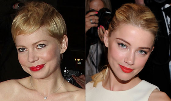 Michelle Williams , Amber Heard