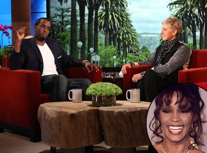 Diddy, Puff Daddy, Sean Combs, Ellen Degeneres, Whiteney Houston