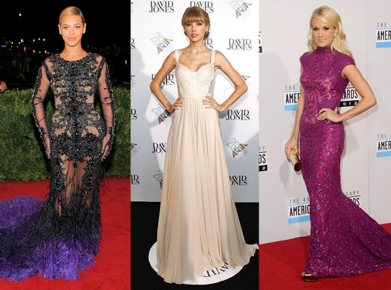 Beyonce Knowles, Taylor Swift, Carrie Underwood