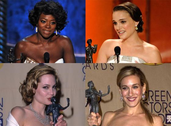Viola Davis, Natalie Portman, Sarah Jessica Parker, Angelina Jolie, SAG Awards