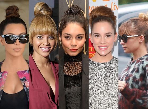 Top Buns, Kim Kardashian, Beyonce, Vanessa Hudgens, Christa B. Allen, Nicole Richie