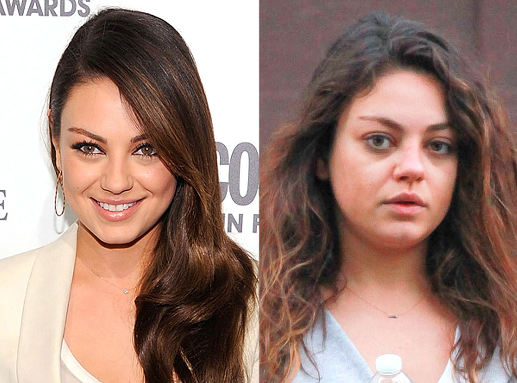 For celebrity without makeup before and after words... super