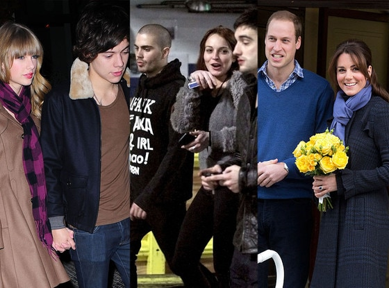 Taylor Swift, Harry Styles, Lindsay Lohan, The Wanted, Kate Middleton, Prince William