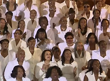 Whitney Houston Funeral Choir