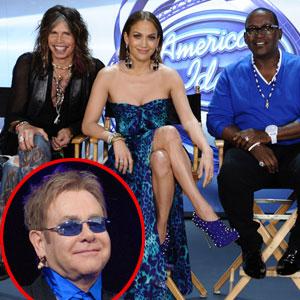 AMERICAN IDOL, Steven Tyler, Jennifer Lopez, Randy Jackson, Elton John