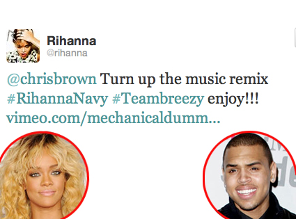 Rihanna, Chris Brown, Twitter
