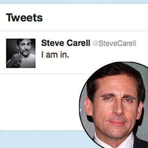 Steve Carell, Twitter