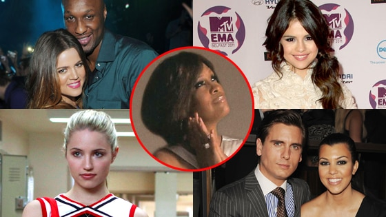 Khloe & Lamar, Whitney, Kourtney & Scott, Dianna Agron and Selena Gomez