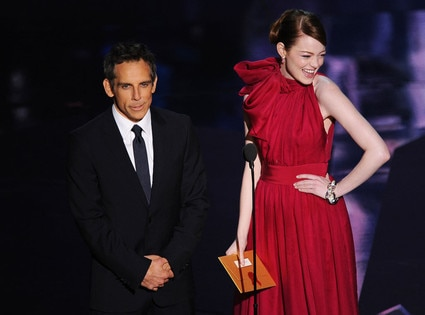 Ben Stiller and Emma Stone