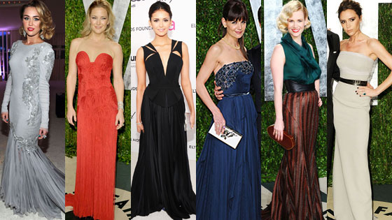 Miley Cyrus, Kate Hudson, Nina Dobrev, Katie Holmes, January Jones, Victoria Beckham