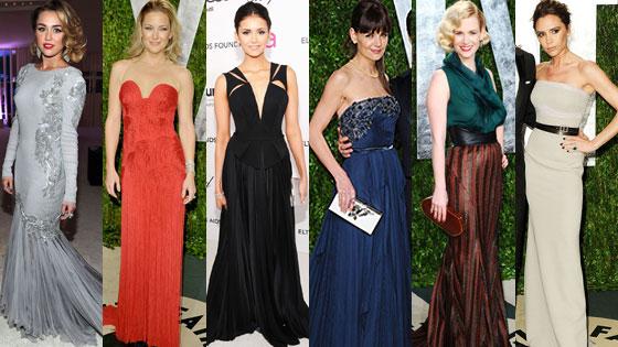 Miley Cyrus, Kate Hudson, Nina Dobrev, Katie Holmes, January Jones, Victoria Beckham