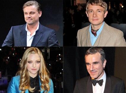 Leo DiCaprio, Martin Freeman, Amanda Seyfried, Daniel Day Lewis