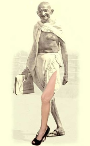 Gandhi, Angelina Leg
