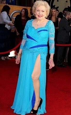 Betty White, Angelina Leg