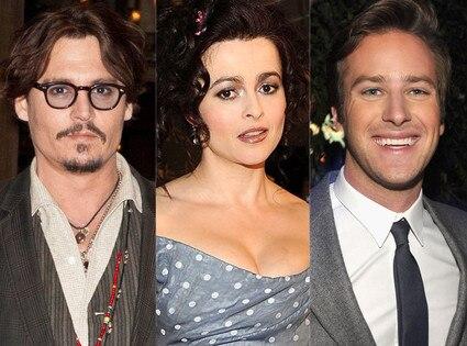 Johnny Depp, Armie Hammer, Helena Bonham Carter