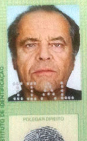 Fake Jack Nicholson ID