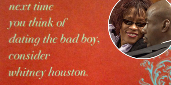 Target Card, Whitney Houston, Bobby Brown