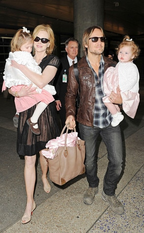 Nicole Kidman, Keith Urban, Sunday Urban, Faith Urban