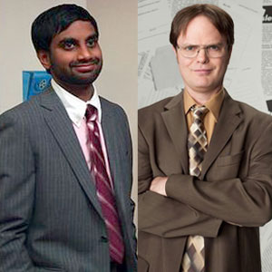 Rainn Wilson, The Office, Aziz Ansari, Parks and Recreation