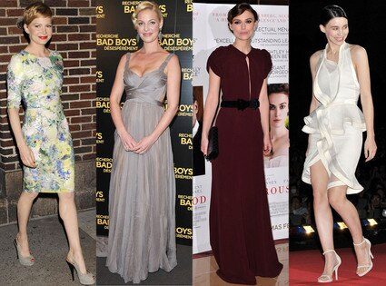 Michelle Williams, Katherine Heigl, Keira Knightley, Rooney Mara