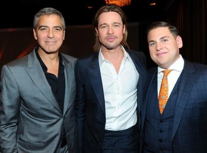 George Clooney, Brad Pitt, Jonah Hill, Oscar Luncheon