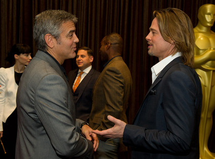 George Clooney, Brad Pitt, Oscar Luncheon