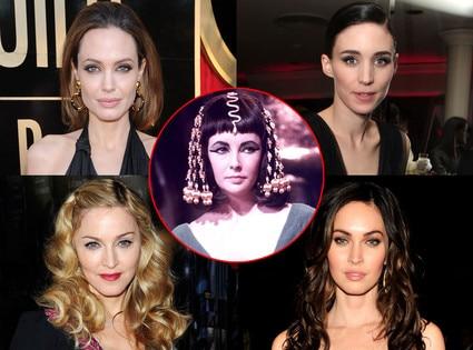 Rooney Mara, Angelina Jolie, Madonna,Megan Fox, Elizabeth Taylor