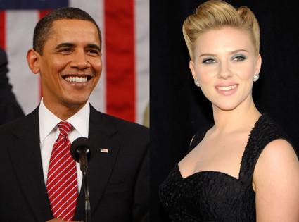 Barack Obama, Scarlett Johansson