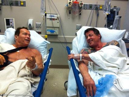 Arnold Schwarzenegger, Sylvestor Stallone