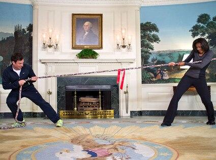 Michelle Obama, Jimmy Fallon